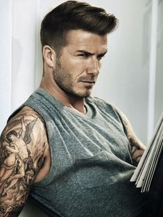 "Wearing a new haircut has a great effect on the overall look of any man. Top 10 Hottest Haircut & Hairstyle Trends for Men 2015 | TopTeny. Tattoo sleeve a bonus! :) Join ""Group Board"".  https://www.pinterest.com/busyqueen4u/pinterest-group-u-pin-it-here/"