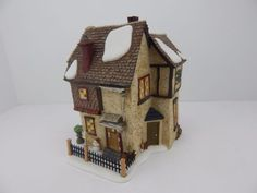 Dept-56-A-Christmas-Carol-Dickens-Village-Belles-House-58512-Has-light-cord Dickens Village, Christmas Carol, Gingerbread, Cord, Outdoor Decor, House, Home Decor, Cable, Decoration Home