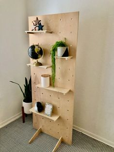 75 Tall Modern Large Display Pegboard with Stand Pegboard Craft Room, Ikea Pegboard, Pegboard Display, Pegboard Organization, Kitchen Pegboard, Craft Booth Displays, Market Displays, Craft Markets, Store Design