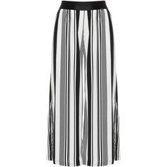 60c359e203a Mat White   Black Plus Size Striped palazzo pants ( 59) ❤ liked on Polyvore