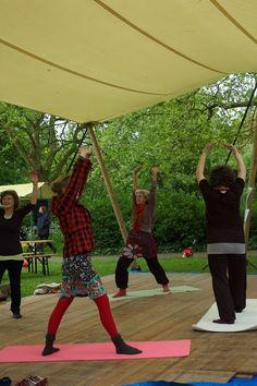 Morning Dru Yoga at Festival Lokale Schoonheid