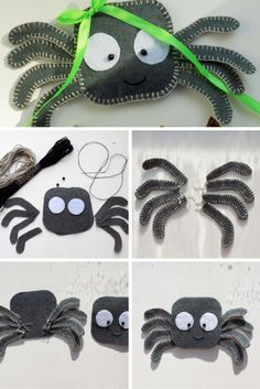 Felt spider - halloween tutorial