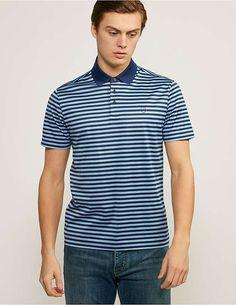 95c7f471 blue Z Zegna Striped Polo Shirt Striped Polo Shirt, Man Fashion, Ss16,  Popsicles