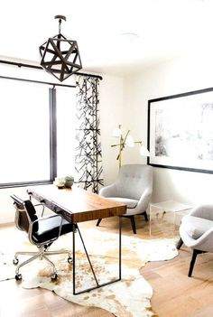 Looking perfect in this home office, the Eames Office Chair by makes sure your clients have all the comfort they need while closing that deal with you! Get this look for your home office right now! Mesa Home Office, Home Office Space, Home Office Desks, Office Furniture, Black Furniture, Office Spaces, At Home Office Ideas, Office Den, Gothic Furniture
