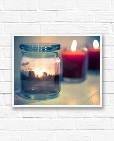 An original fine art photograph of a sunset scene on the beach inside a jar; capturing summer inside a jar so that the magic and possibility of summer can always be with you. The beach scene was photographed in St. Augustine, Florida.