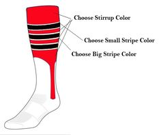 Custom Baseball Stirrup Socks - Style D Low minimums.  Shop Awesome-Sports.Com