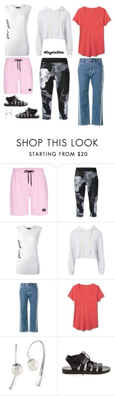 """""""Staycation"""" by musicfriend1 on Polyvore featuring Nicce, The Upside, Diesel, Monrow, STELLA McCARTNEY, Gap, Majorica, lovethis, casualstyle and staycation"""