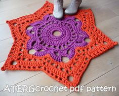 Hey, I found this really awesome Etsy listing at https://www.etsy.com/listing/173264427/crochet-pattern-star-rug-by-atergcrochet