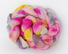 Hand Painted Wool Roving Braid / Combed Top by 222Handspun on Etsy, $16.00