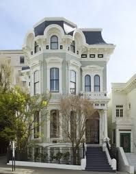 Image result for paintings with white victorians homes