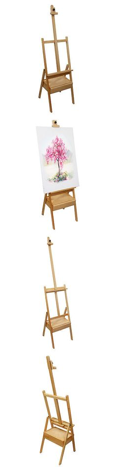 Easels 41204: Floor Easel With Tilt Beech Wood Painting Drawing Home ...