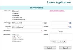leave request templates
