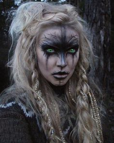 ideas for prom ideas for halloween witch makeup ideas halloween makeup ideas makeup ideas cute eyes makeup ideas makeup ideas makeup ideas for halloween Makeup Inspiration, Character Inspiration, Creative Inspiration, Vikings, Make Up Gesicht, Witch Makeup, Alien Makeup, Voodoo Makeup, Demon Makeup