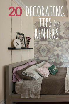 20 Decorating Tips For Renters U003eu003e   #Apartment #Decorating