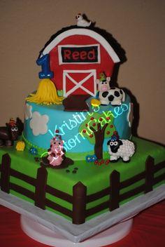 barnyard cake!!! Cute cake for 1st Birthday :)
