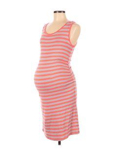 Liz Lange Maternity for Target Casual Dress Size: Medium Gray Dresses - used. 57% Cotton, 38% Modal, 5% Spandex, Sheath, Scoop Neck, Print, calf length, Sleeveless | Liz Lange Maternity for Target Casual Dress - Sheath: Gray Print Dresses - Used - Size Medium Gray Dress, Striped Dress, Target Maternity, Maternity Dresses, Grey Stripes, Dresses For Sale, Scoop Neck, Bodycon Dress, Spandex