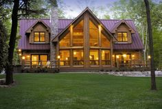 In this article we showcase 18 log home plans with pictures ideas. Discover log home plans with pictures design and ideas inspiration from a variety of color, decor and theme options. Wooden House Plans, Building A Wooden House, Wooden House Design, Tree House Plans, Wooden Houses, Log Cabin Floor Plans, Log Home Plans, Cabin Plans, House Floor Plans