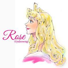 Disney Princess Aurora, Disney Princess Drawings, Princess Cartoon, Disney Art, Walt Disney, Aurore Disney, Sleeping Beauty 1959, Briar Rose, Disney Cartoons