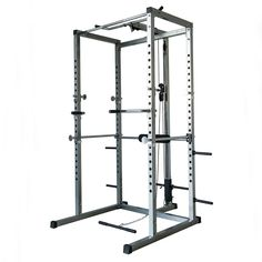 Akonza Athletics Fitness Power Rack with Lat Pull Attachment w/ Weight Holder Exercise Station Function. Transform your Body-Solid Power Rack into a multi-workout machine. Lat Attachment will help you build a wider, beefier Back and/or stronger and bigger Biceps and Triceps. Plate loading lat pull down offers a full range of shoulder motion. Four plate storage pegs are located on the rear upright allowing for quick, easy access to both the lat pull storage carriage or bench press bar on...