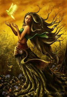 arrives as the erotic and youthful Mother Earth, Gaia.She arrives as the erotic and youthful Mother Earth, Gaia. Greek Gods And Goddesses, Greek And Roman Mythology, Fantasy Kunst, Fantasy Art, Mother Earth, Mother Nature, Gaia, Mythical Creatures, Magick