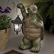 turtle with solar lantern