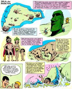 Los comics de Machete: Mampato y Ogú: Rapanui Peanuts Comics, Character Design, Chile, Cartoons, Easter Island, Islands, Wolves, Dibujo, Cartoon