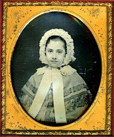 Cameo daguerreotype - c. 1880s - (Via)