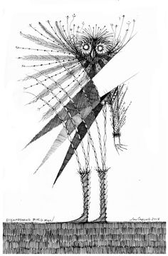 'disappearing birdman' Sketchbook Exhibit #165 Jon Carling