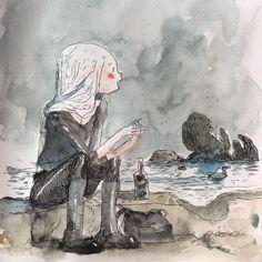 #tonysandoval #sketch #watercolor #drink and draw  https://www.instagram.com/p/BSYbNP1hSyn/?taken-by=rainofdoom