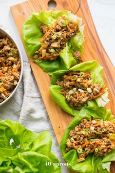 These Whole30 lettuce wraps are the best PF Changs lettuce wraps recipe. Loaded with flavor and with lots of veggies, these Whole30 lettuce wraps are a great Whole30 dinner recipe. You'll love these paleo lettuce wraps because they're filling yet light, totally healthy, and slightly sweet yet nutty and spicy. So good!