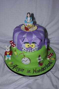 Alice in Wonderland theme Cake - www.suikerbekkie.co.za Alice In Wonderland Theme, Themed Cakes, Desserts, Food, Theme Cakes, Tailgate Desserts, Deserts, Essen, Cake Art