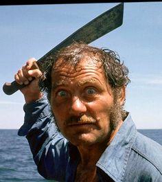 "Character Quint played by Robert Shaw in ""Jaws""."