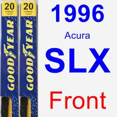 Front Wiper Blade Pack for 1996 Acura SLX - Premium