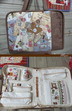 sewing case with lots of pockets
