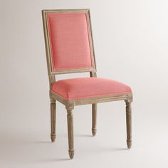 Coral Linen Paige Square-Back Dining Chairs, Set of 2 | World Market