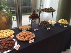Dessert bars add variety to any event!  www.confectionperfectioncakes.com   #customweddingdessertbar #dessertbar #confectionperfection