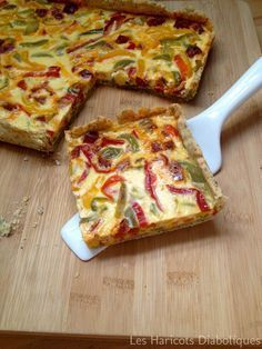 Tarte aux trois poivrons et au chorizo - Three peppers and chorizo pie Quiches, Omelettes, Cooking Time, Cooking Recipes, Chefs, Good Food, Yummy Food, Salty Foods, Food Inspiration