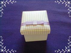 Caixa em MDF forrada com tecido