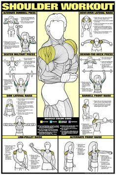 Shoulder workout.