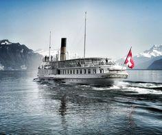 """La Suisse"", CGN's flagship has been cruising on lake Geneva since Lake Geneva, Switzerland, Mood"