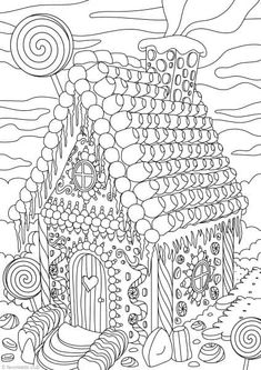 Printable Gingerbread House Coloring Pages Awesome Gingerbread House Printable Adult Coloring Pages From House Colouring Pages, Adult Coloring Book Pages, Printable Adult Coloring Pages, Free Coloring Pages, Coloring For Kids, Coloring Books, Shopkins Colouring Pages, Christmas Coloring Sheets, Christmas Colors