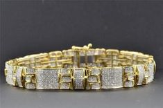 The breathtaking allure of this stately bracelet will capture the attention of all.