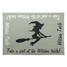 Witches Table Witch On Broomstick