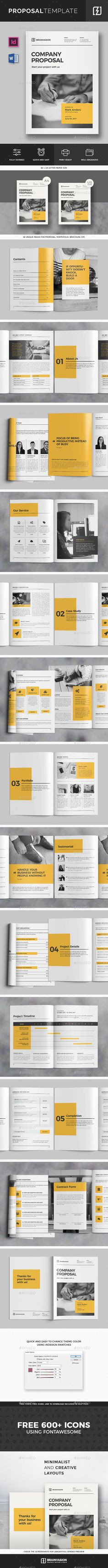 Indesign Proposal Template Proposal templates
