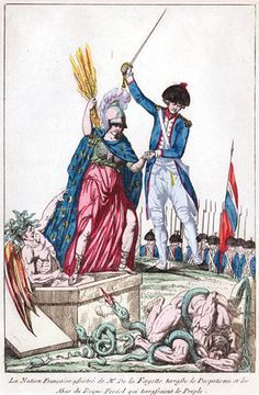 """""""With the Help of Mr. de la Fayette, the French Nation Defeats Despotism"""" *The French Revolution - Carl A. French History, European History, World History, Art History, History Teachers, Teaching History, Story Of The World, Second World, Marie Antoinette"""