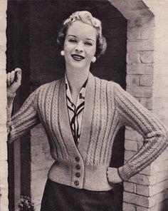 Vintage Knitting Pattern Instructions to Make a by LucysPatternBox, £1.95