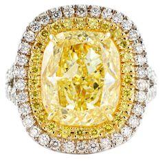 Fancy Yellow 6.74ct Diamond Ring  Shreve, Crump & Low