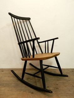 Rattan chairs rattan and vintage on pinterest for Schaukelstuhl outdoor rattan