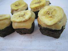 Peanut Butter Banana Brown Doggies Brownies Gourmet Dog Treats Homemade Biscuits