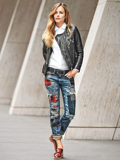 Denim Outfit Ideas: Glamour.com